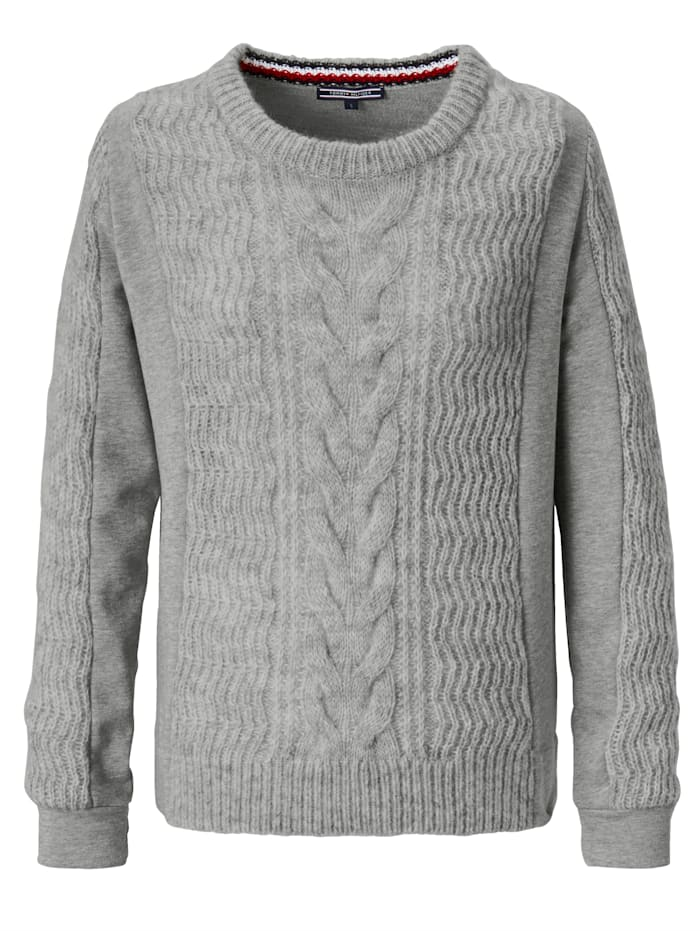 TOMMY HILFIGER Pullover Aus Material Mix, Grau