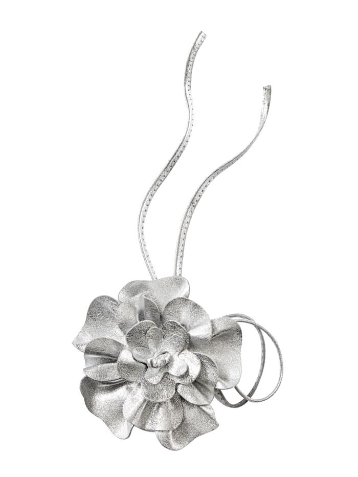 Sara Lindholm Blütengürtel zum Binden, Silberfarben