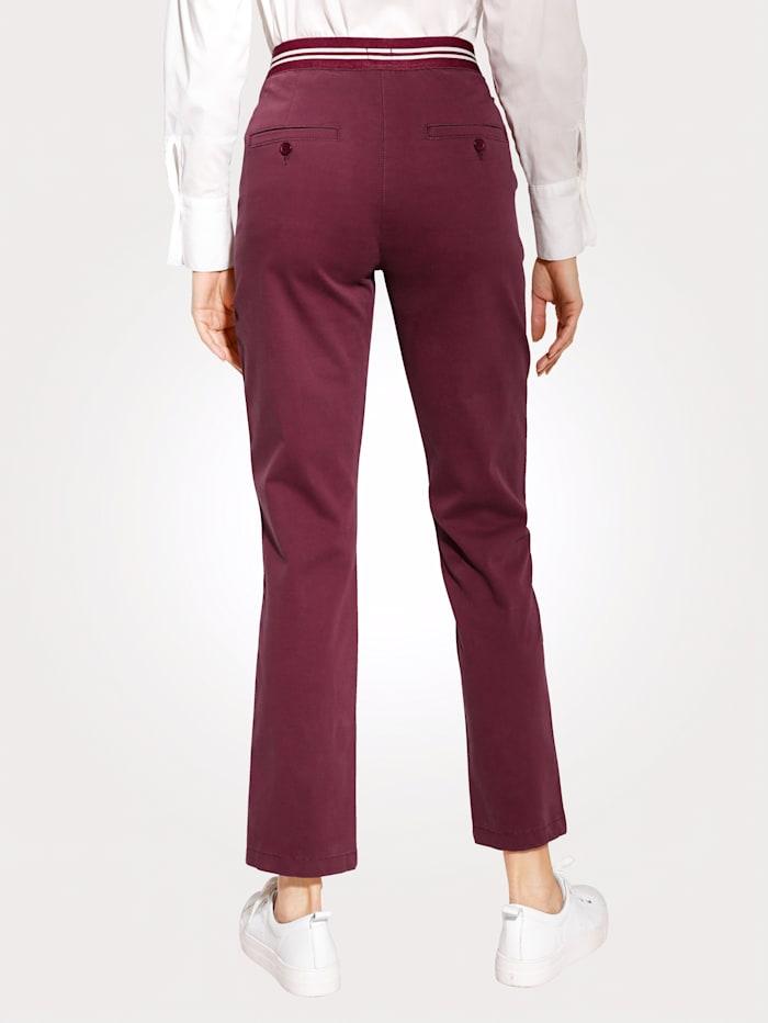 MONA Pantalon à ceinture rayée partiellement extensible, Baies