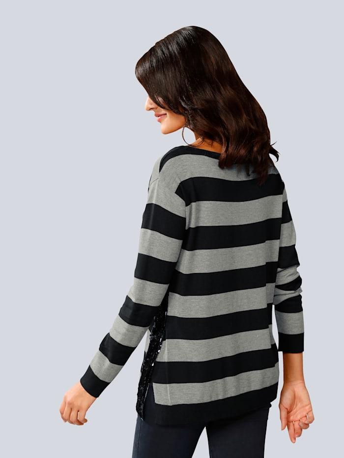 Pullover allover im Streifendessin