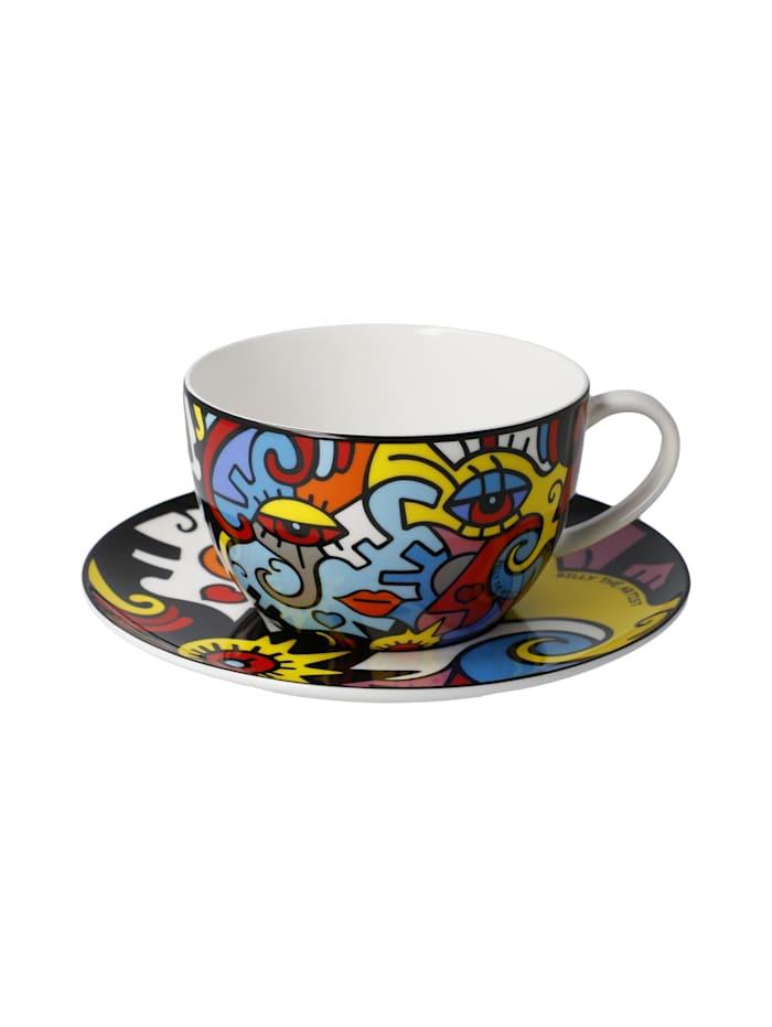Goebel Tee-/ Cappuccinotasse Billy the Artist - Together, Bunt