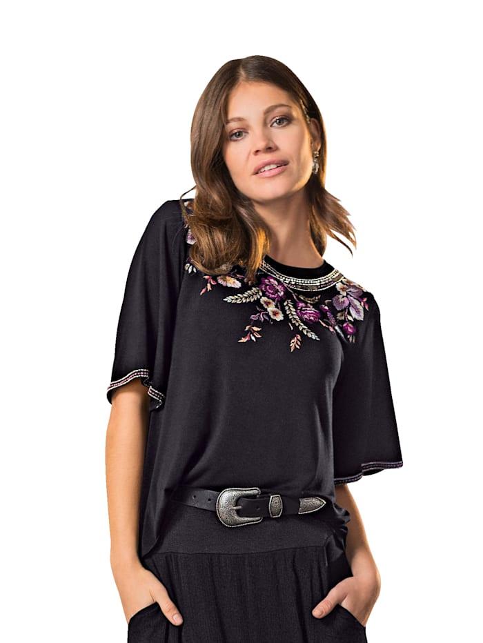 Shirt met borduursel bij de hals
