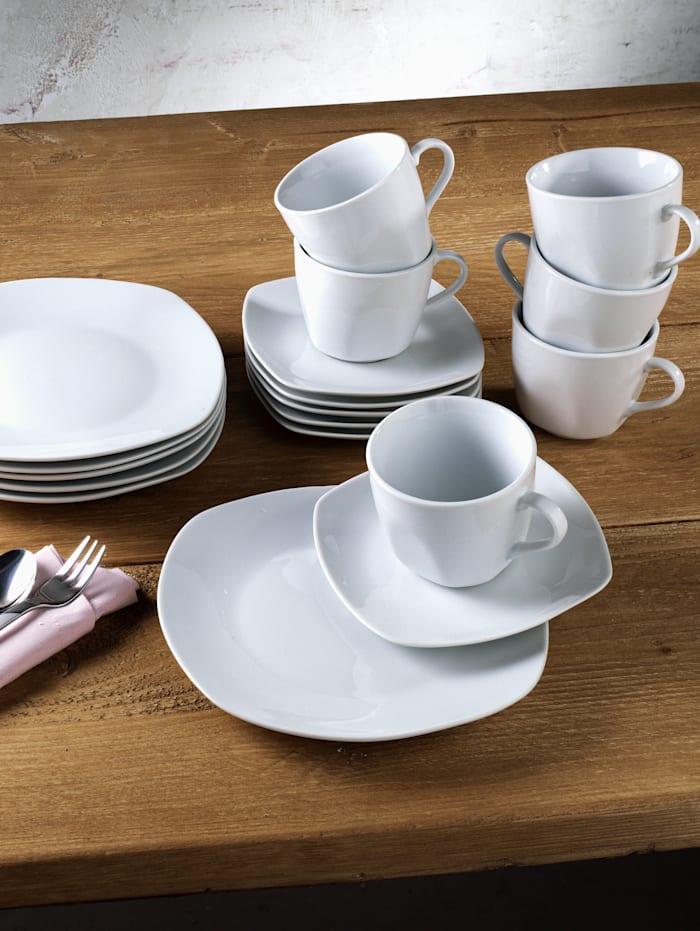 Van Well Kaffeservis i 18 delar – Lilli, vit