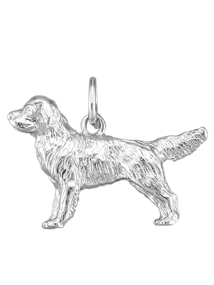Diemer Gold Hund-Anhänger in Silber 925, Silberfarben