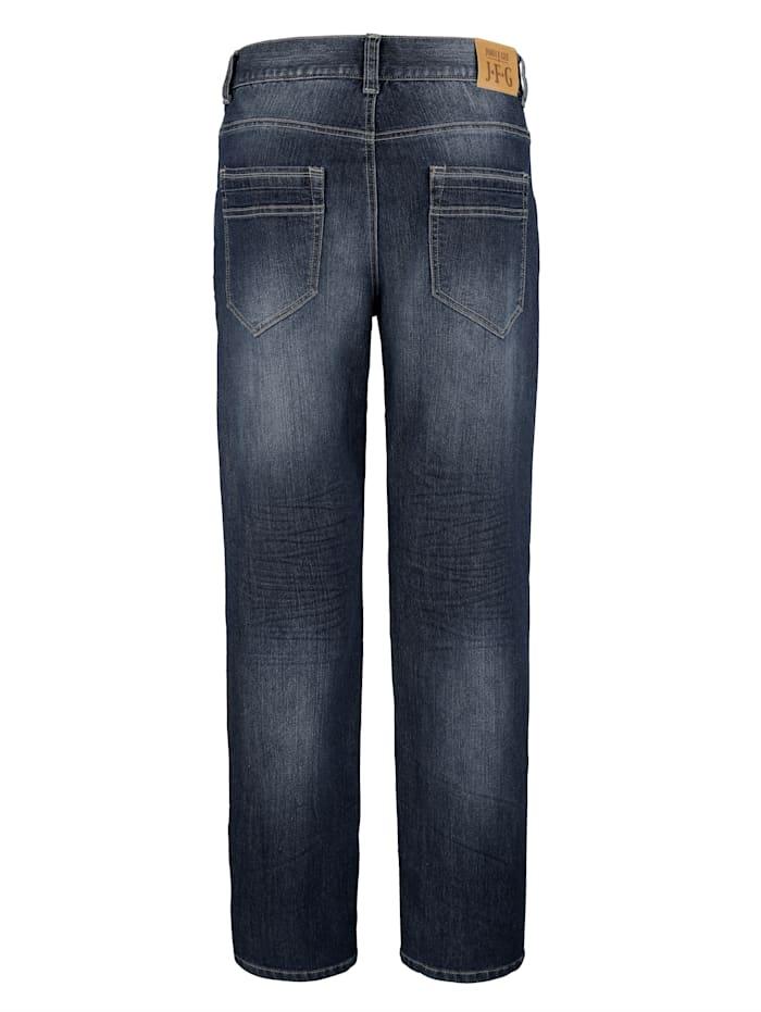 Jeanshose mit zusätzlichen Reißverschluss-Taschen