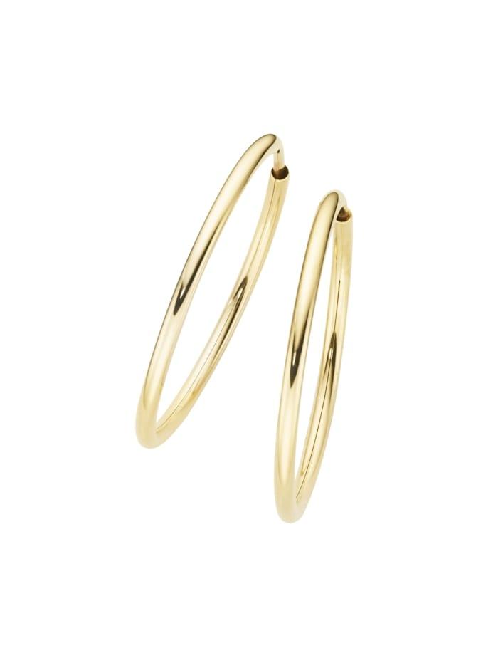 Luigi Merano Creolen hochglanz, Gold 585, Gold