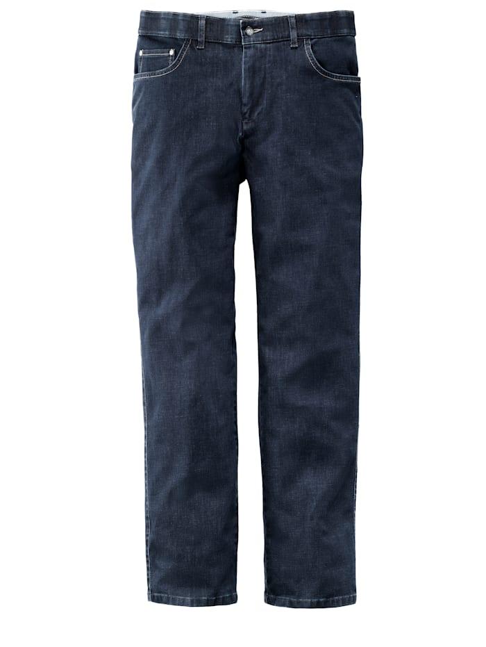 Men Plus Bi-Stretch Jeans Straight Fit, Dark blue