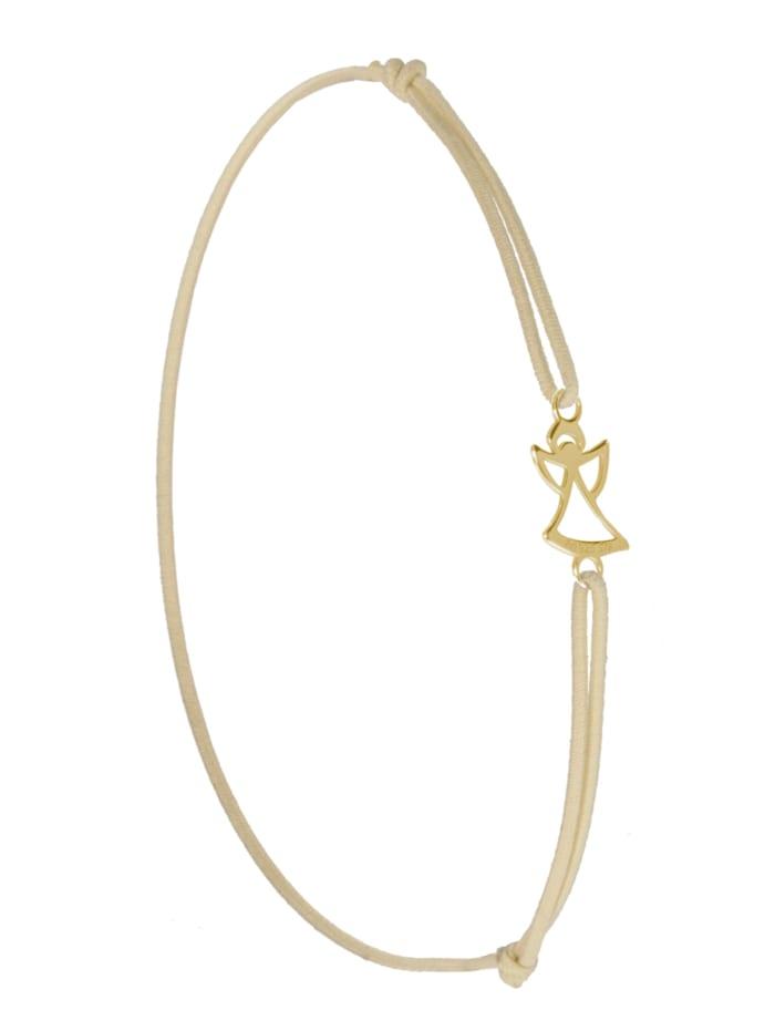 1001 Diamonds Engel Armband 925 Silber vergoldet, cremé
