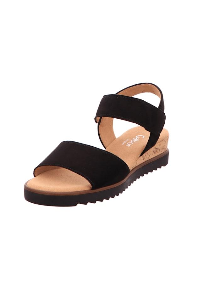 Gabor Damen Sandale in schwarz, schwarz