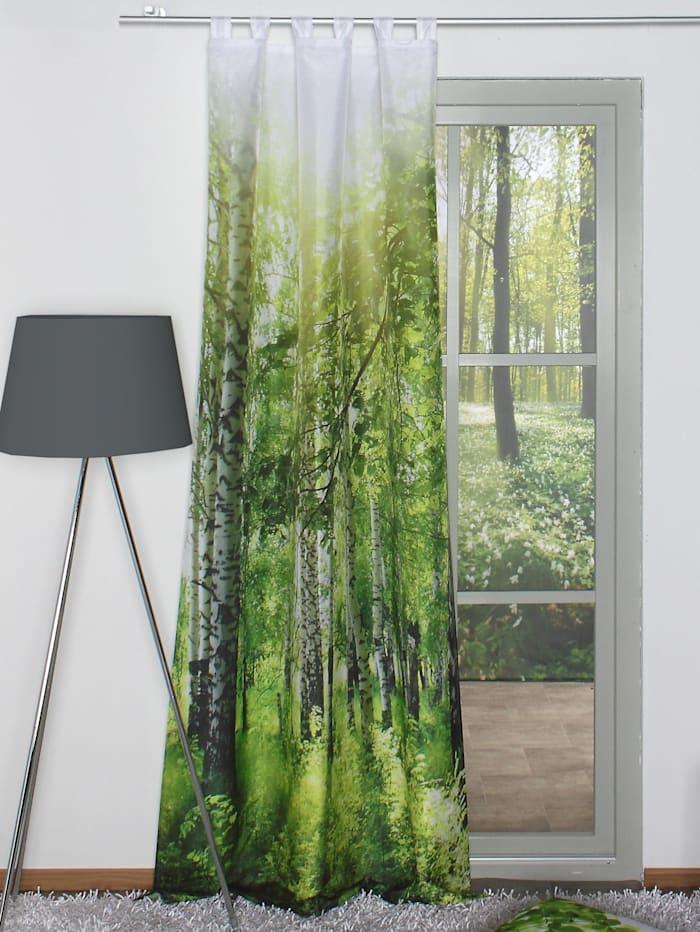 """Home Wohnideen Voilage à impression numérique """"Maina"""", vert"""
