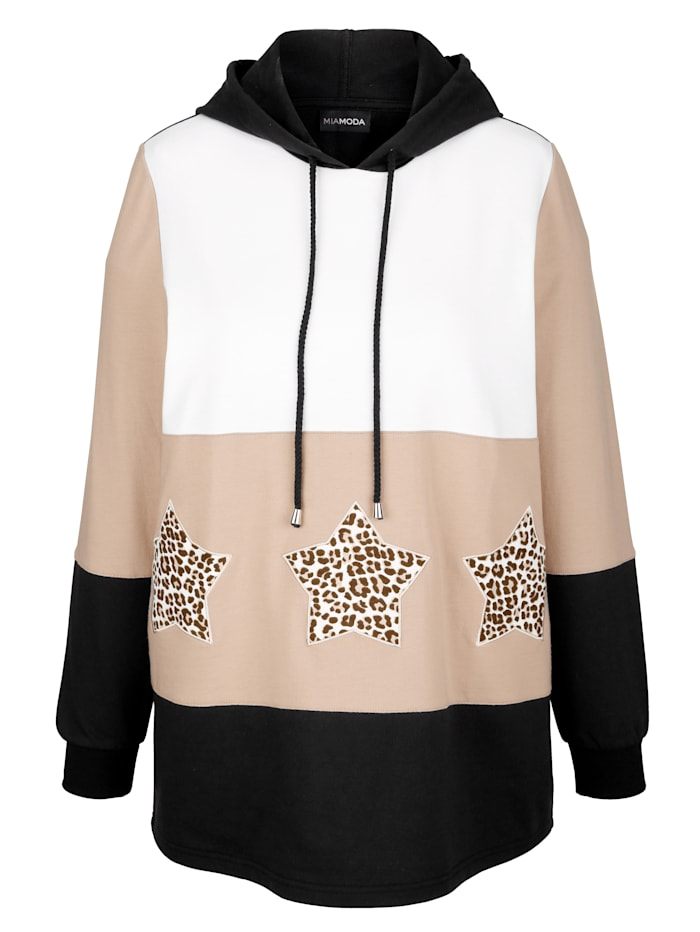 Sweatshirt mit Sternenmotiven