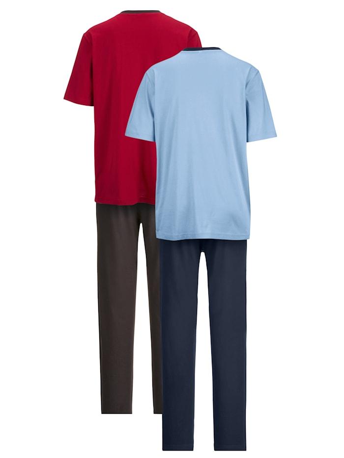 Pyjama à imprimé mode devant Lot de 2