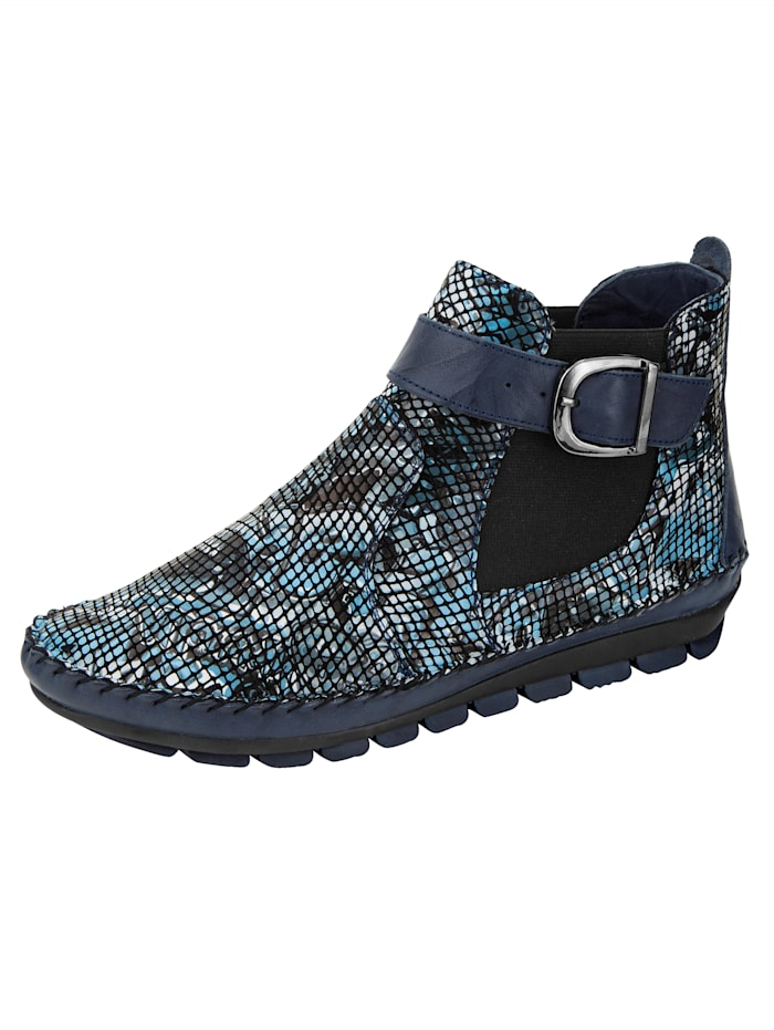 Gemini Ankle boots with a flexible sole, Blue