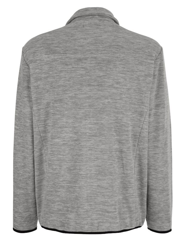 Fleece vest in trendy gemêleerde look