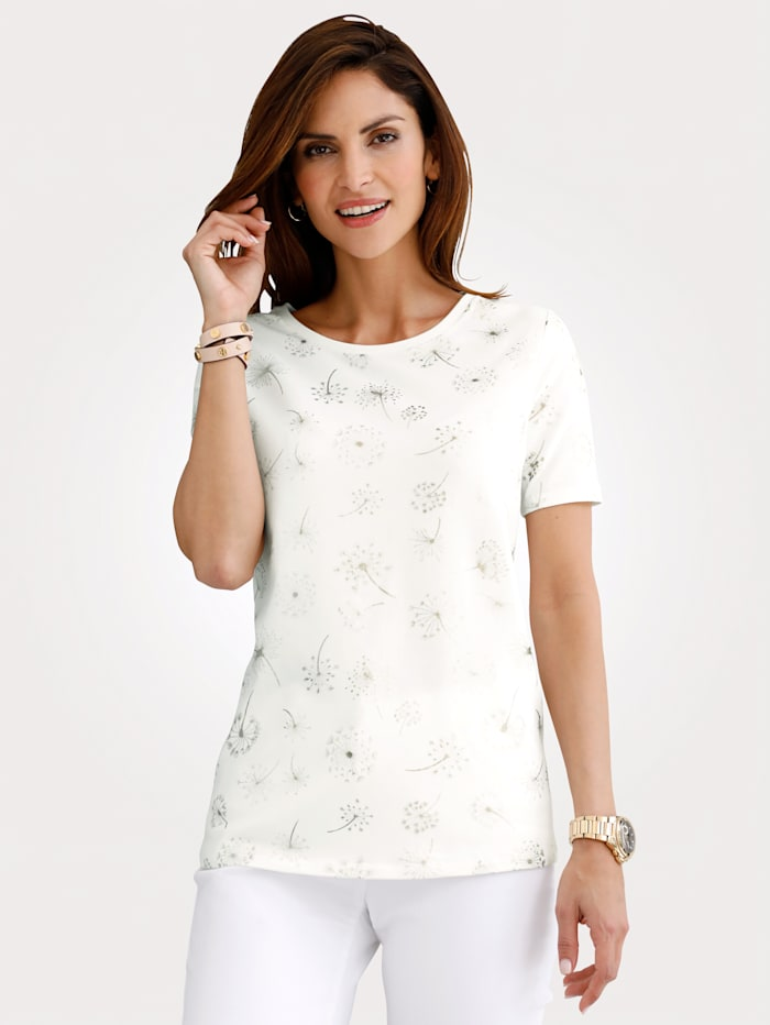 Top with an all-over dandelion print