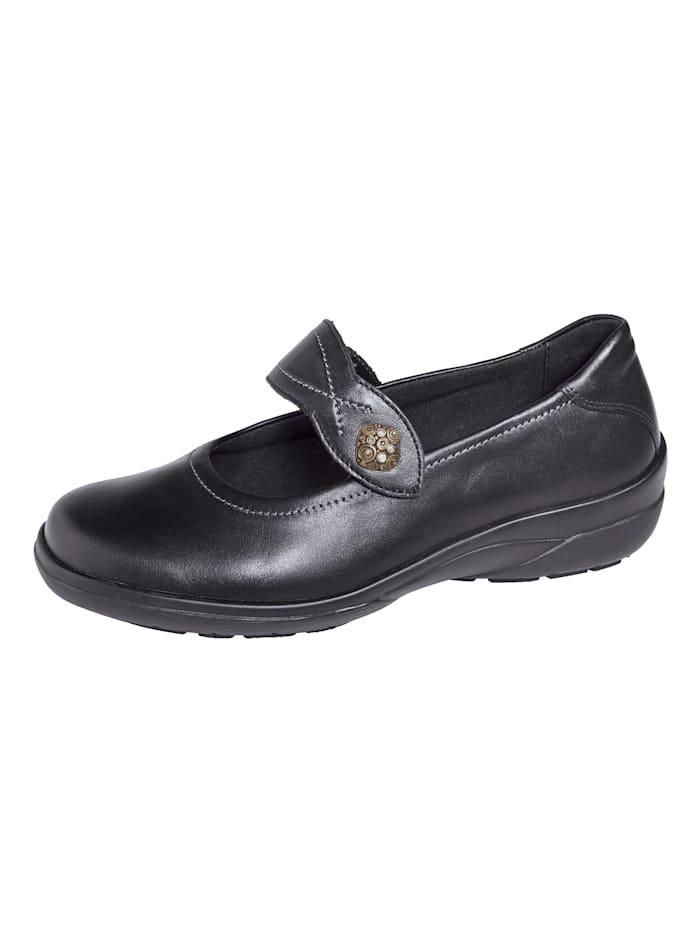 Solidus Klittenbandschoen, Zwart