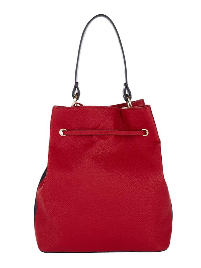 Handbag in an all-over stripe design