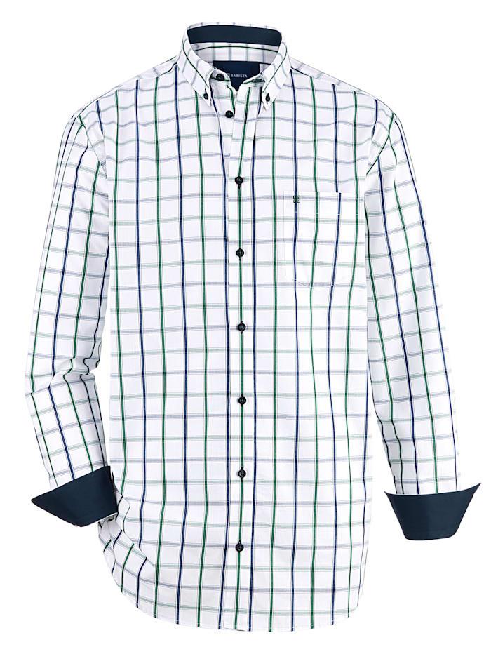 BABISTA Chemise à poche poitrine, Blanc/Vert/Bleu