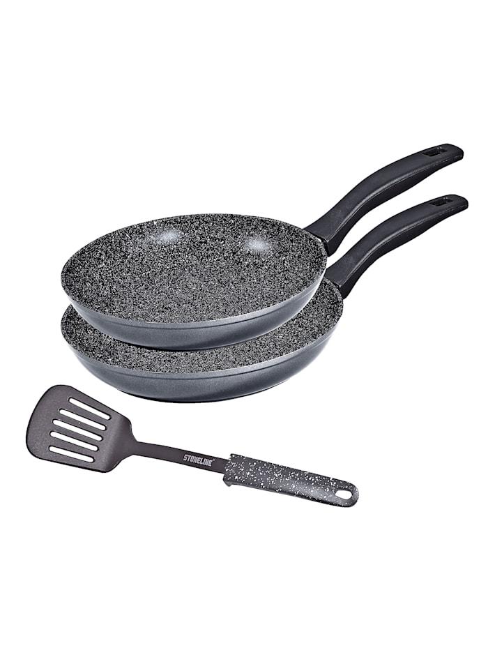 Stoneline Pannesett med stekespade, grå
