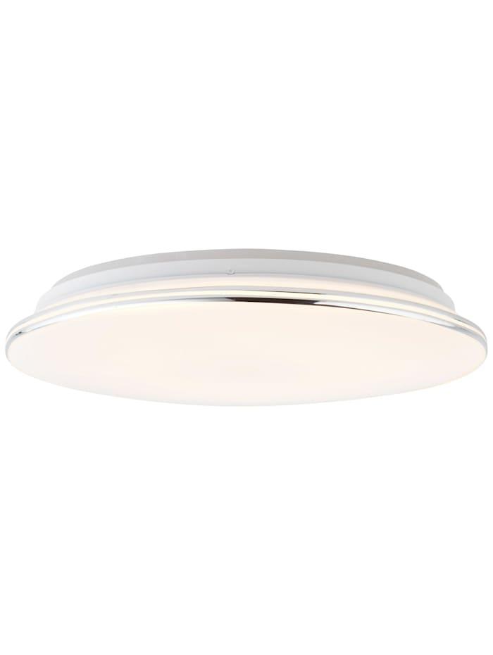 Brilliant Edna LED Deckenleuchte 40cm weiß/chrom, weiß/chrom