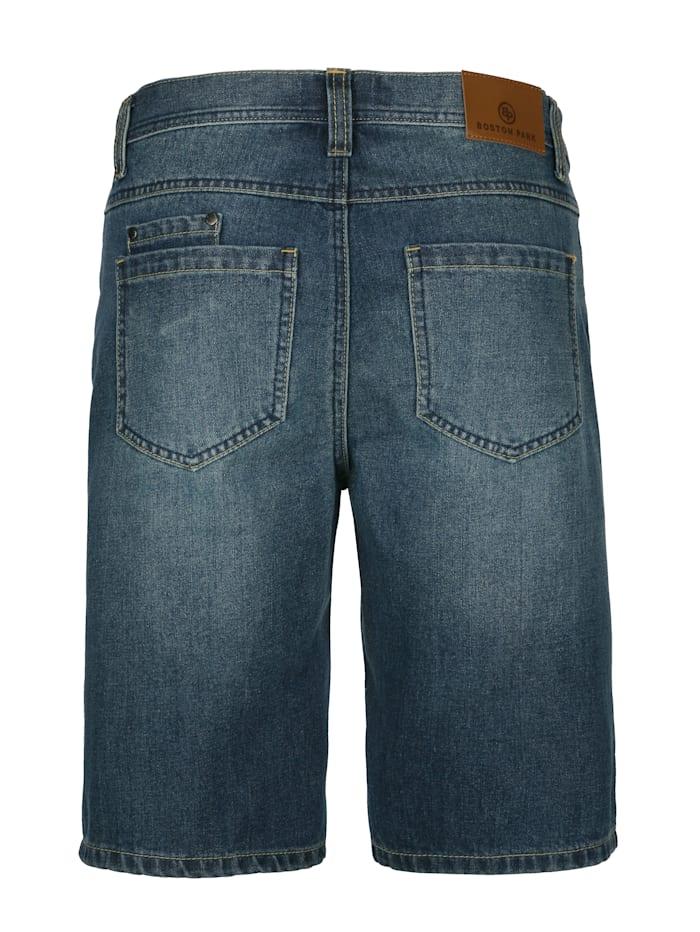 Shorts med lätt tvättade effekter