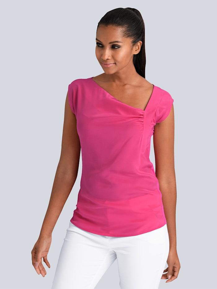 Alba Moda Top in schönem Materialmix, Pink