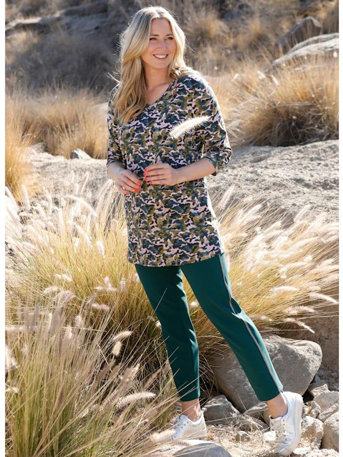 Longshirt mit farbenfrohem Alloverdruck