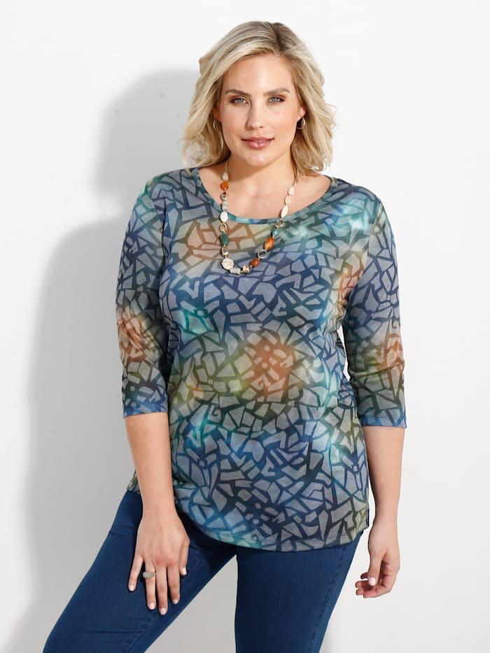 m. collection Shirt met print rondom, Multicolor