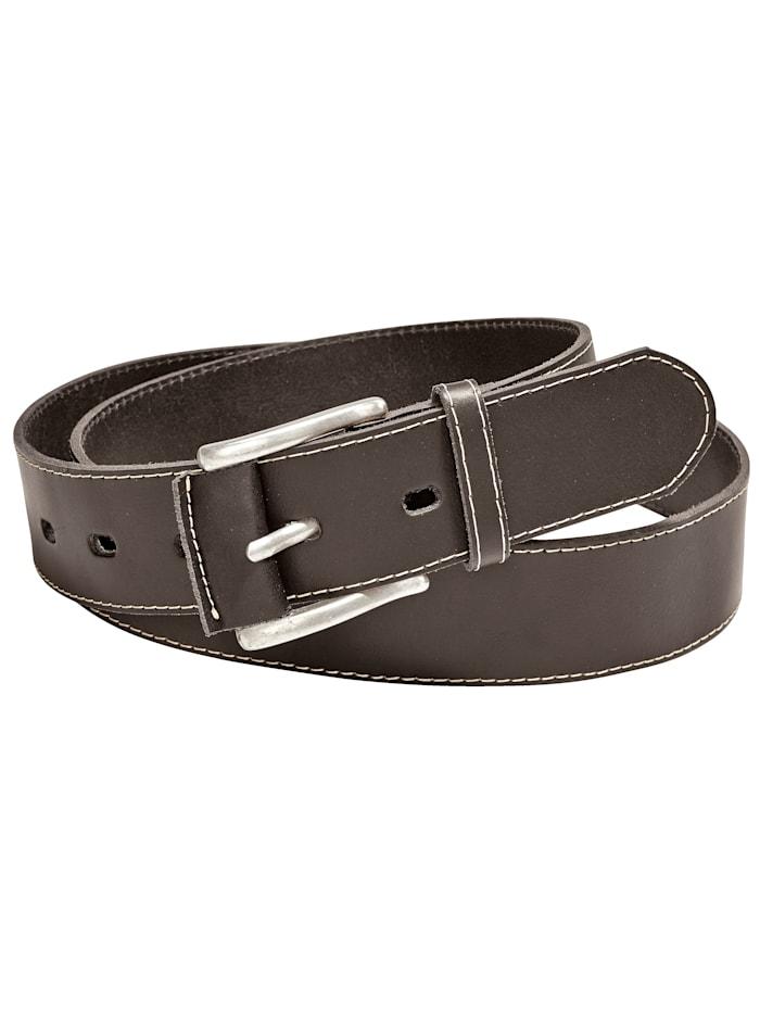 Men Plus Skinnbelte, mørkebrun 4162