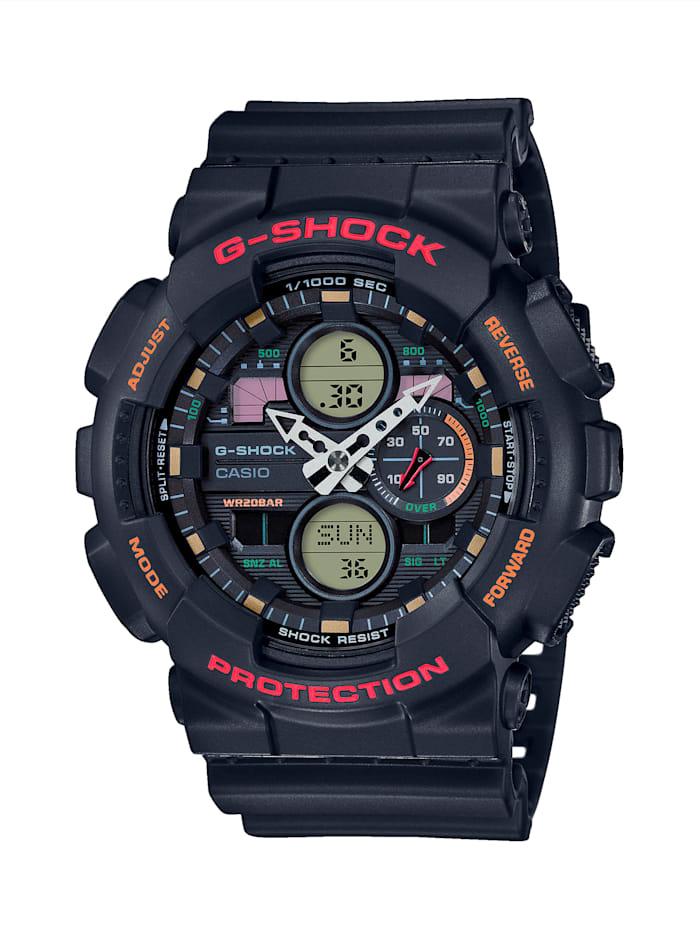Casio Herren-Uhr Chronograph, Schwarz/Rot