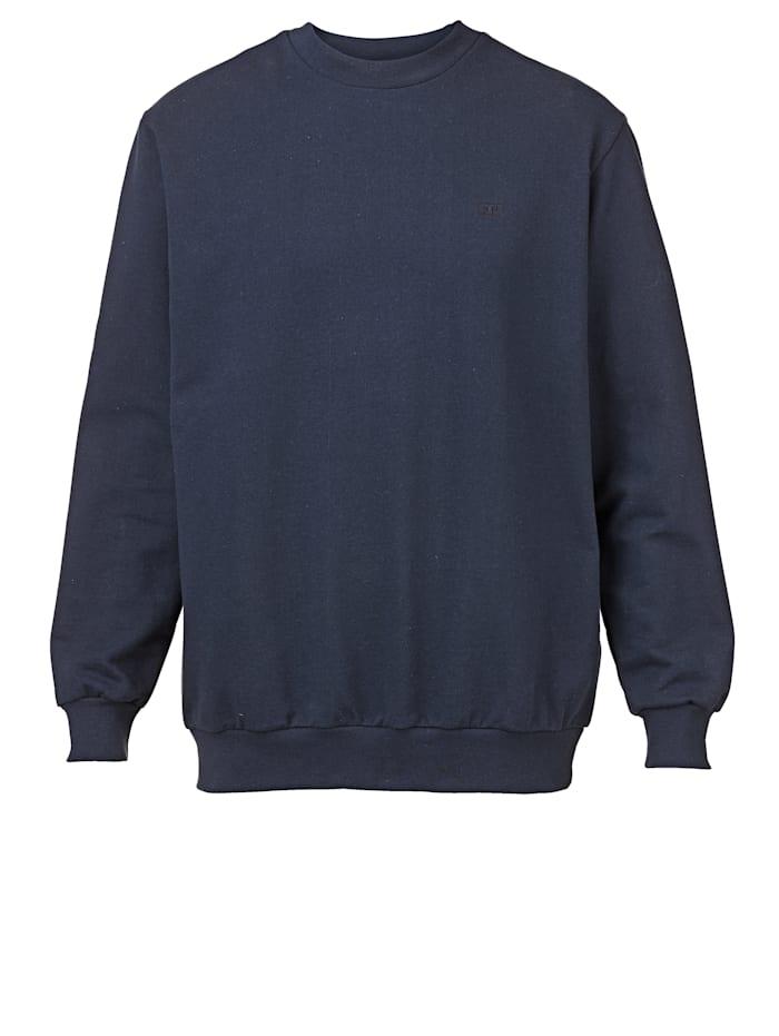 Men Plus Sweatshirt mit kleiner Stickerei, Marineblau