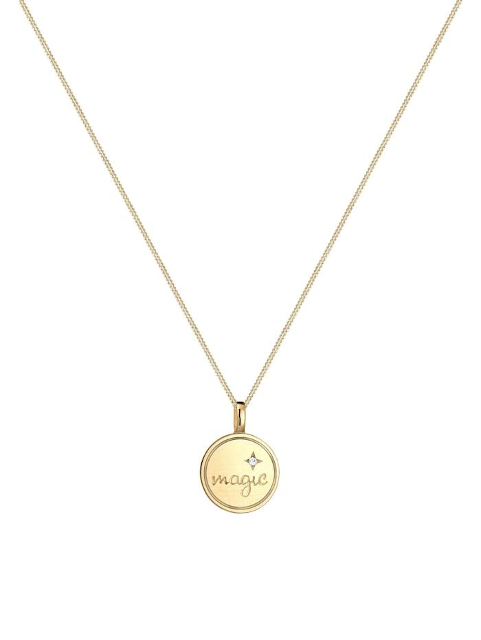 Halskette Astro Magic Stern Kristalle 925 Silber