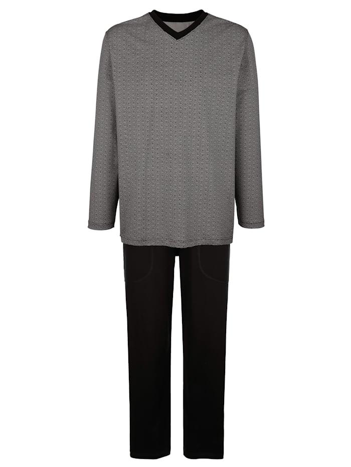 BABISTA Schlafanzug aus mercerisierter Baumwolle, Anthrazit