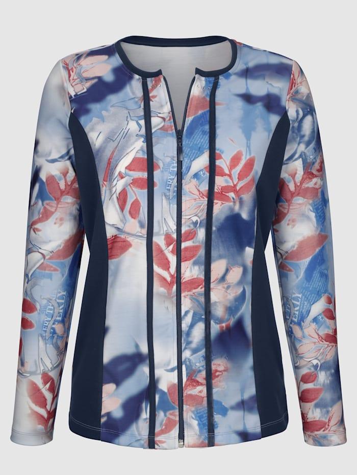 Paola Tričkový kabátik so vsadkami v kontrastnej farbe, Námornícka/Modrá/Červená