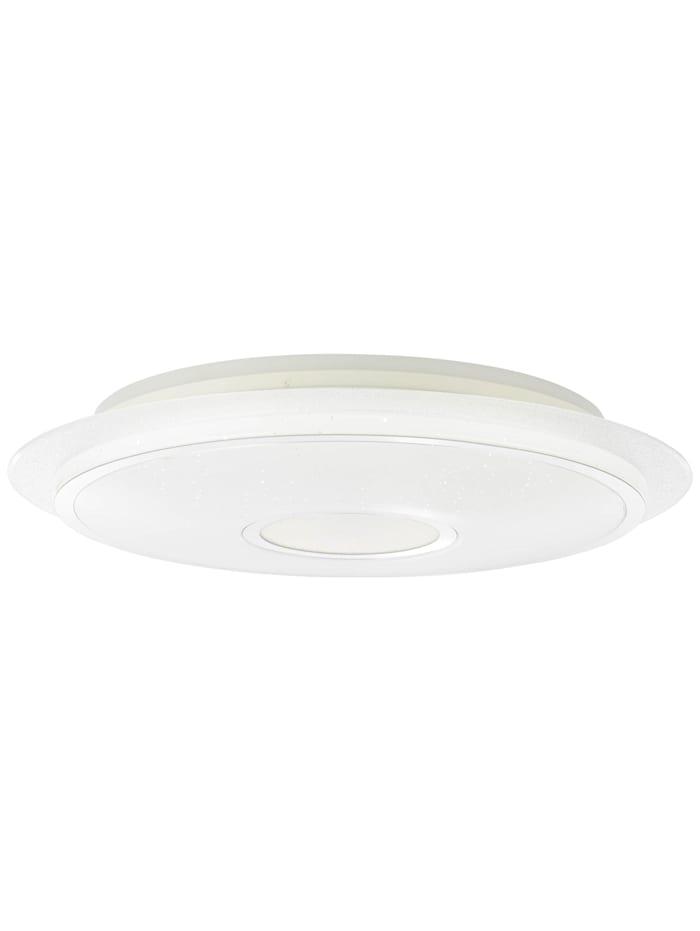 Brilliant Viktor LED Deckenleuchte 57cm weiß-silber, weiß-silber