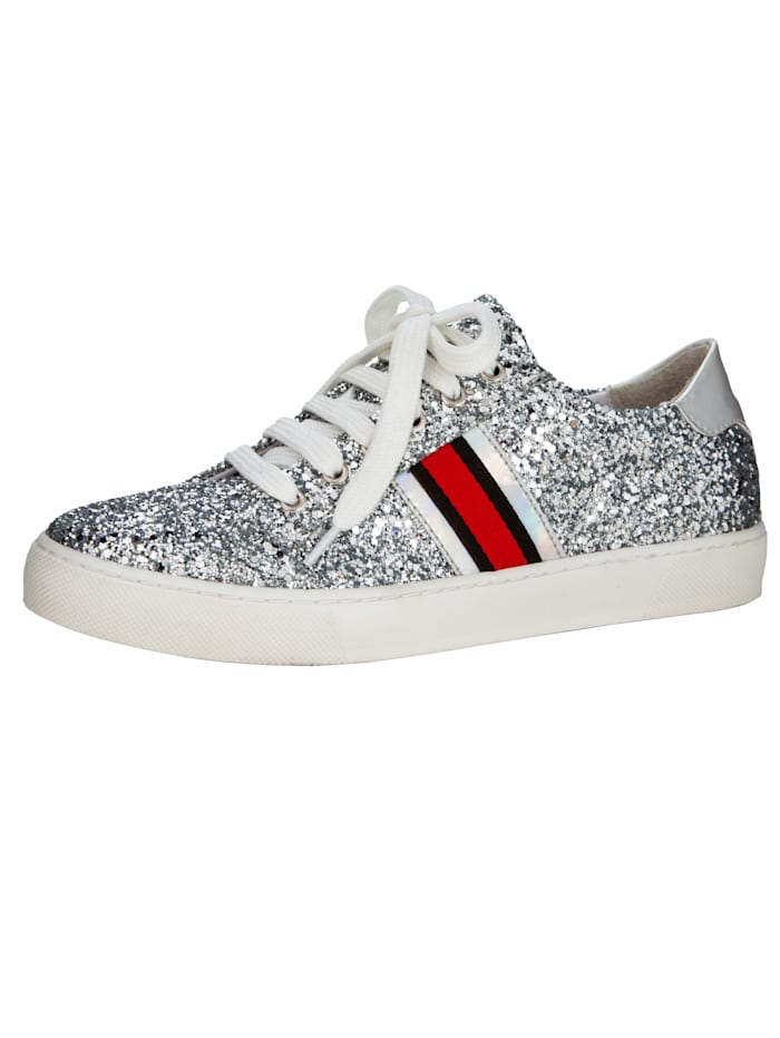 Sneaker in funkelnder Glitter-Optik