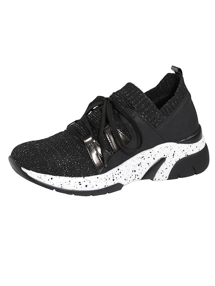 Remonte Sneaker mit SoftFoam Decksohle, Schwarz