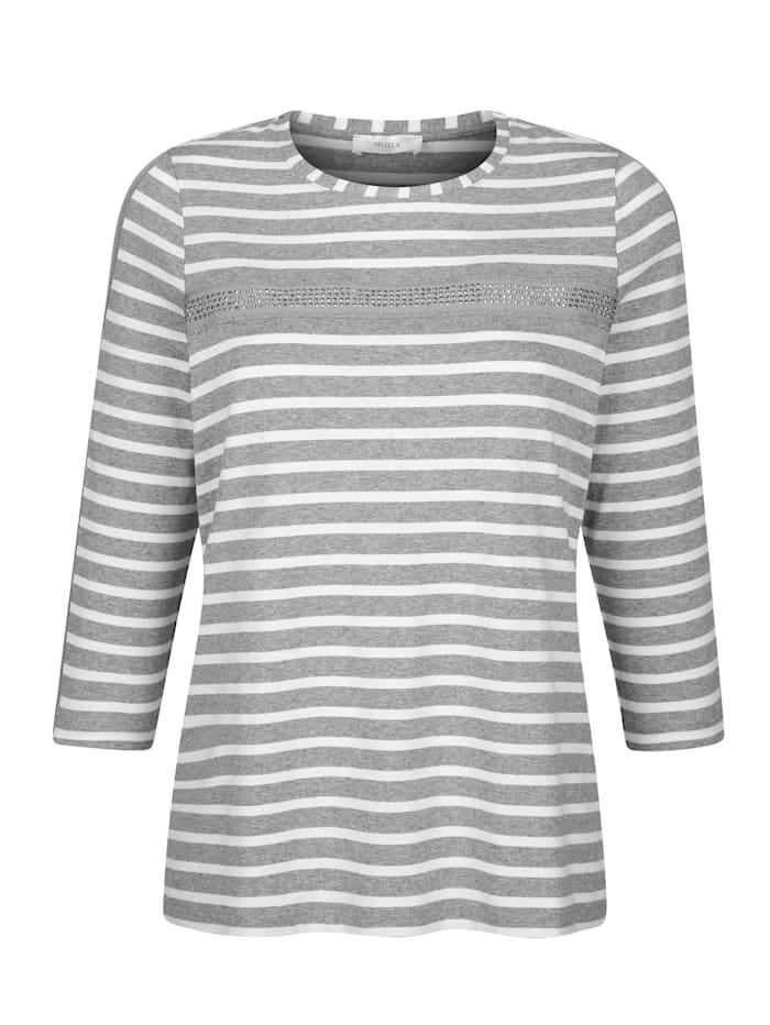 Shirt mit effektvollem Glanzgarn