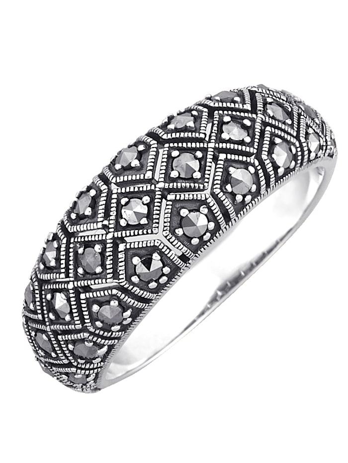 Esse Naisten sormus osittain mustattua 925-hopeaa, Musta