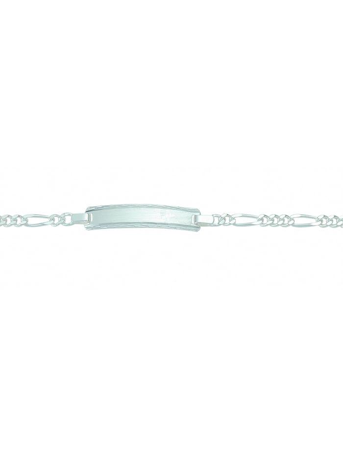 1001 Diamonds Damen Silberschmuck 925 Silber Figaro Armband 16 cm Ø 2,8 mm, silber