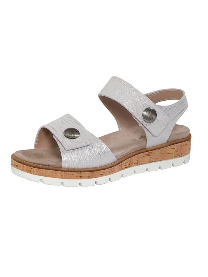 Naturläufer Sandals, Silver-Coloured