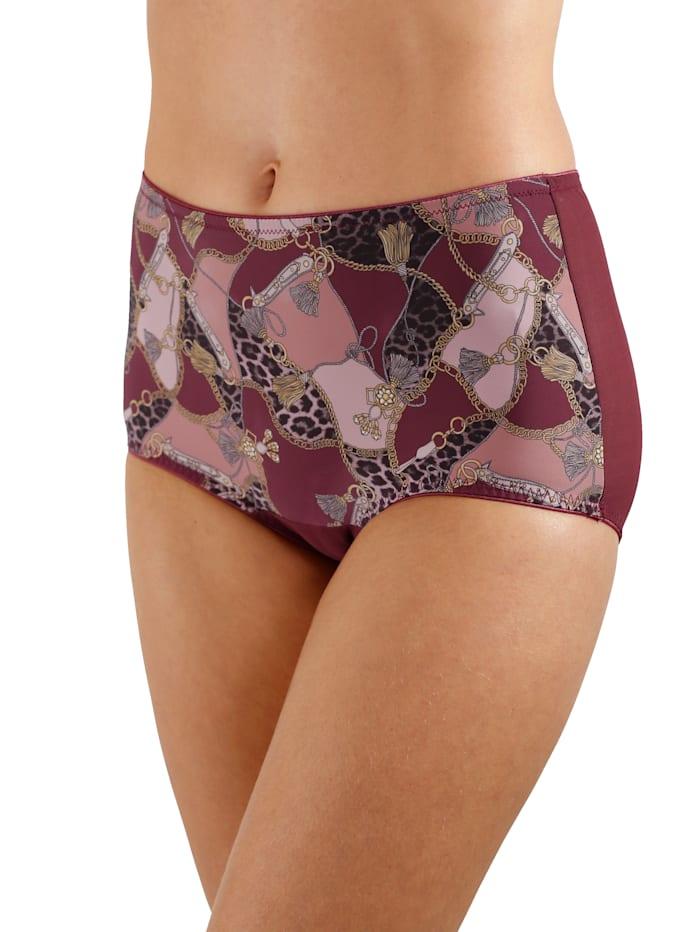 Culotte avec mesh légèrement transparent au dos