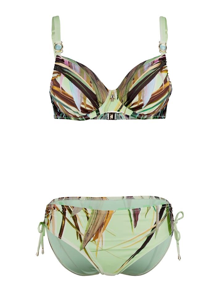 Opera Bikini met sierelementen, Groen