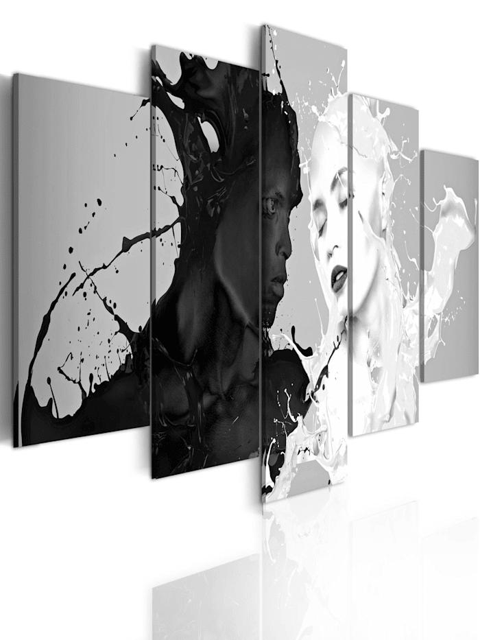 artgeist Wandbild Love at first sight, schwarz-weiß