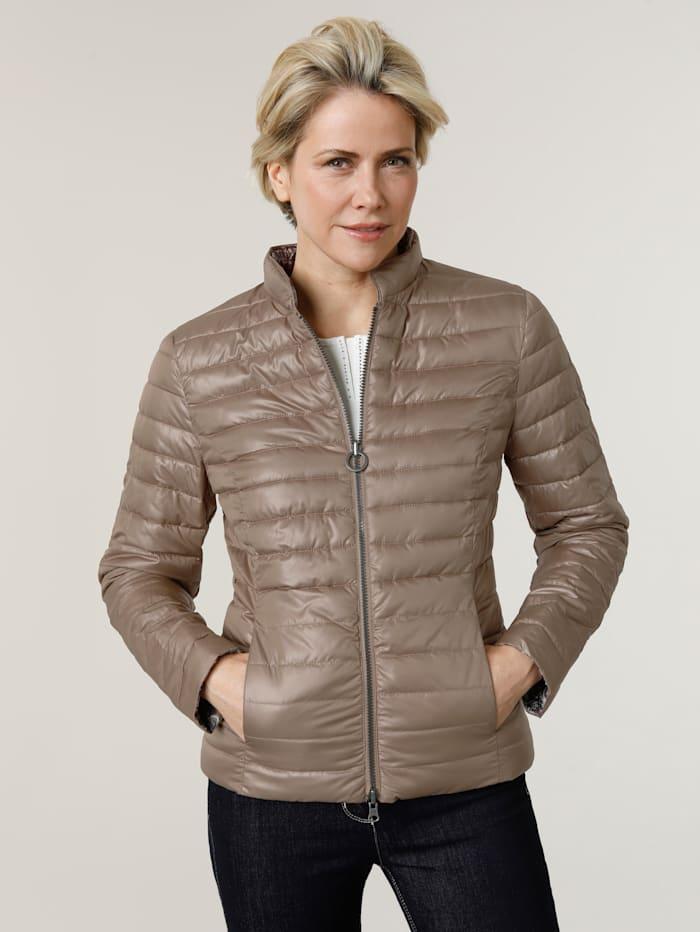 Barbara Lebek Keerbare jas met twee mooie kanten, Blauw/Beige