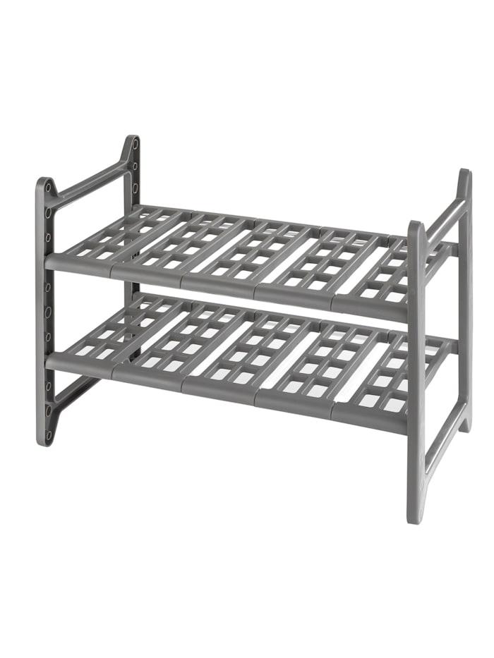 Wenko Küchen-Unterschrankregal Flexi, 45 - 80 cm, Aluminium, Grau