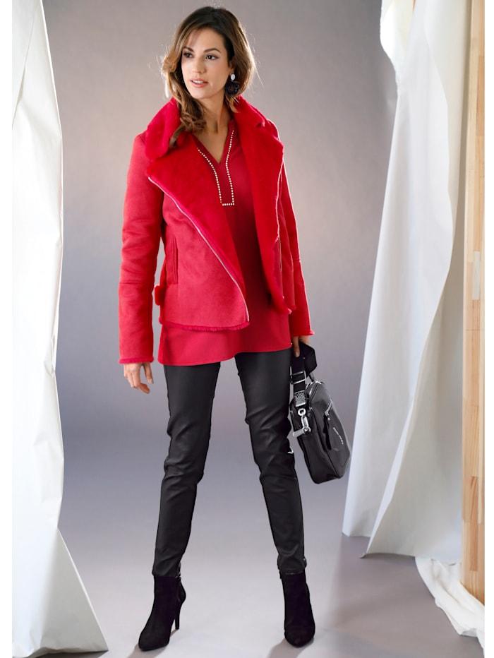 Maze Jacke mit Umlegekragen, Rot