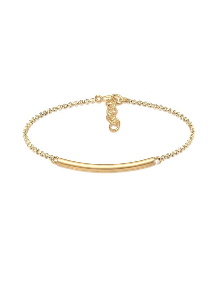 Elli Armband Geo Minimal Basic Tube Cool 925 Silber Branché, Gold