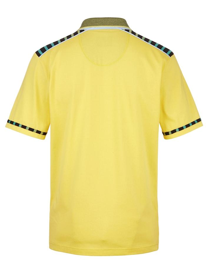 Poloshirt met katoen en microfibre