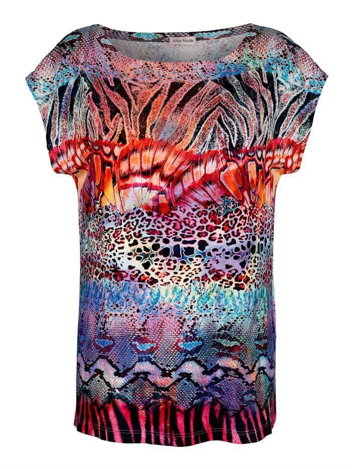 Alba Moda Strandshirt in bunten Farben, Multicolor